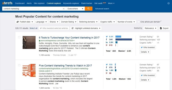 Top 9 Content Search Tools That Are Perfect Alternative to BuzzSumo