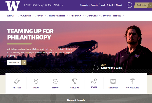 washigton university website