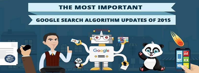 Google Algorithm Updates in 2015 : Gifographic