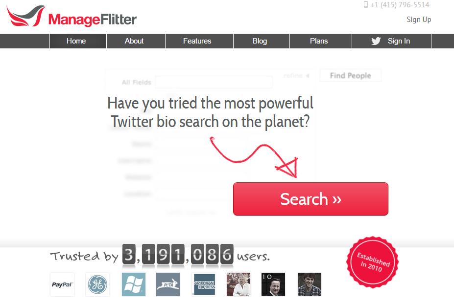 ManageFlitter social media tool