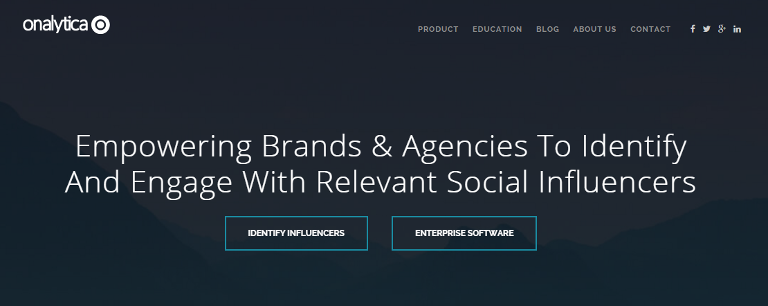 Onalytica social media tool