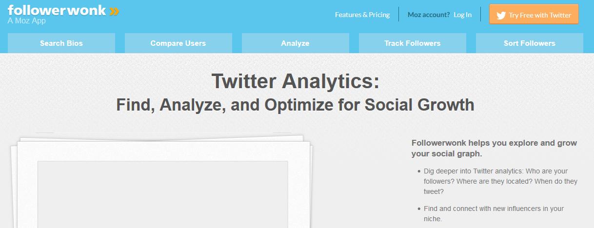Followerwonk social media tool