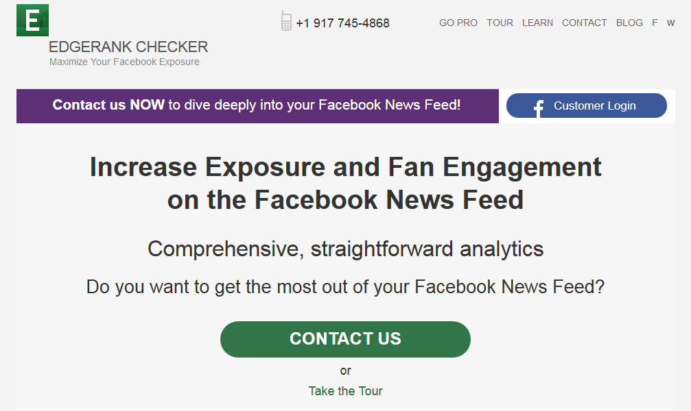 EdgeRank Checker Social Media tool