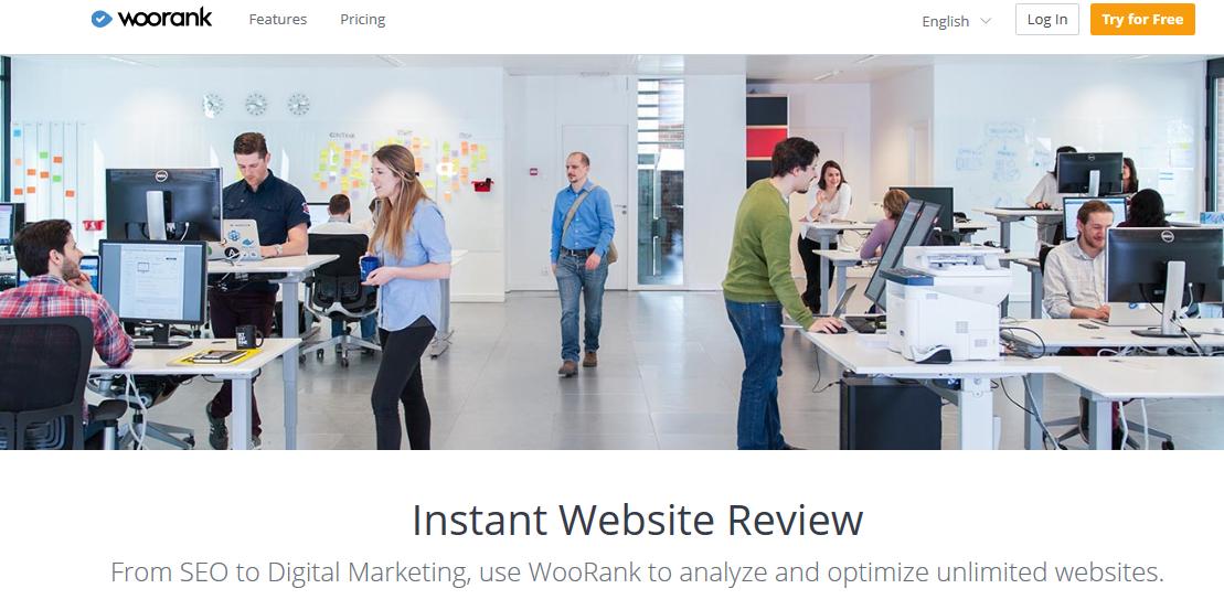 WooRank Social Media Tool