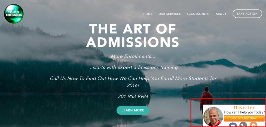 art of admission