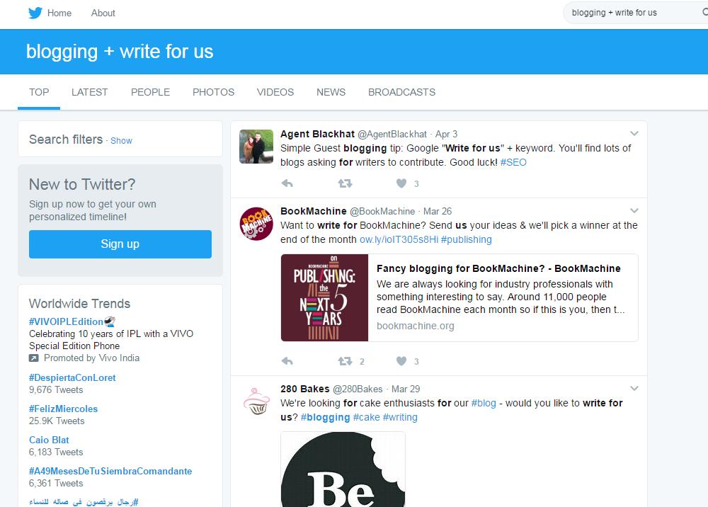 twitter blogging tips
