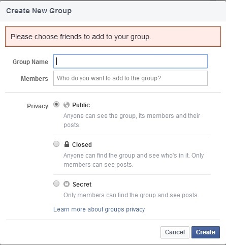 Make your group public
