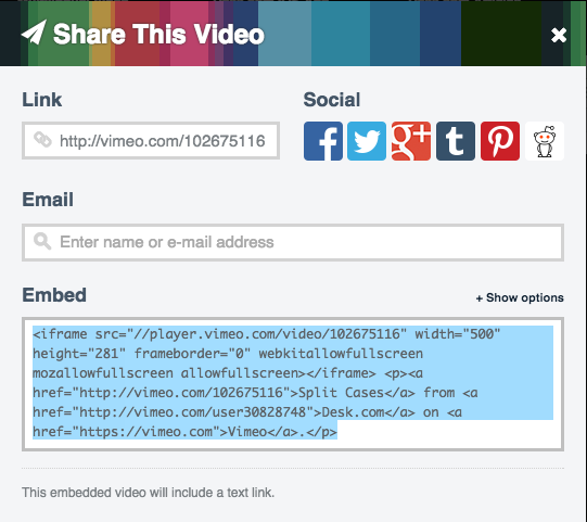 Embed Existing Videos