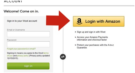 Amazon login function