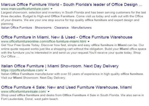 Office furniture in Miami