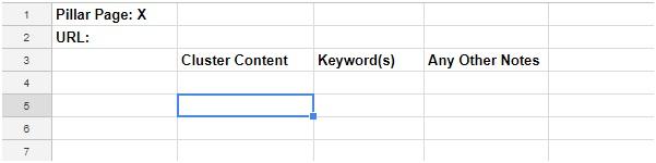 spreadsheet to keep track