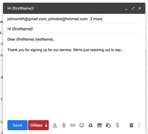 Create personalized mass emails