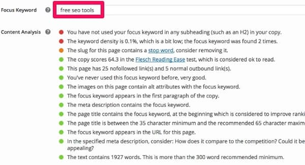 Optimize old posts for new keywords