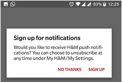 Send Non-Pushy Notifications