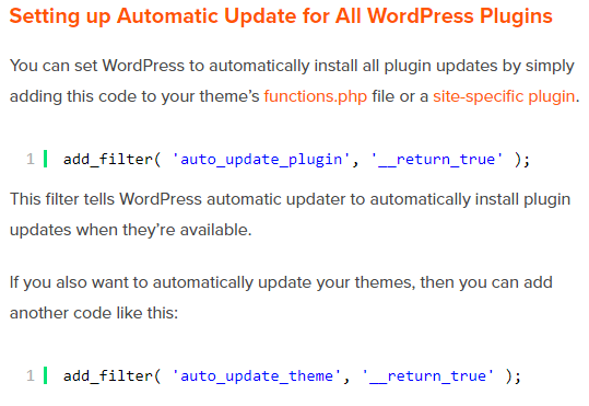 Automate the Updates