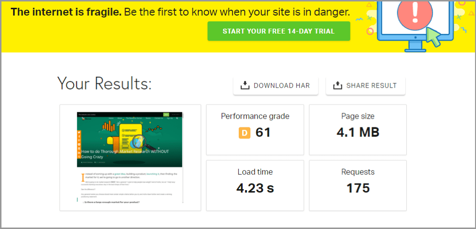 gtmetrics website performance