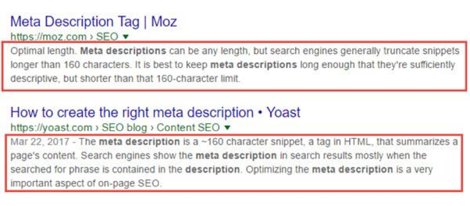 Write relevant meta descriptions