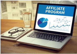 affiliate program screen on a laptop