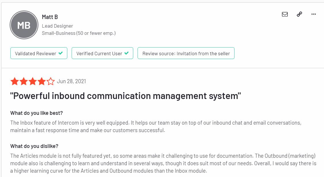 intercom feedbacks