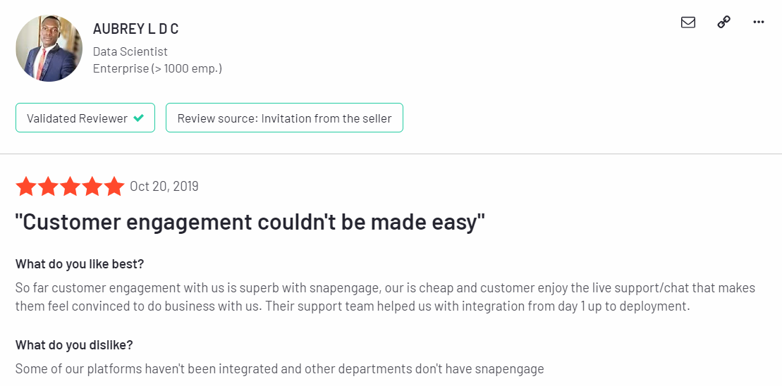 Snap engage feedback