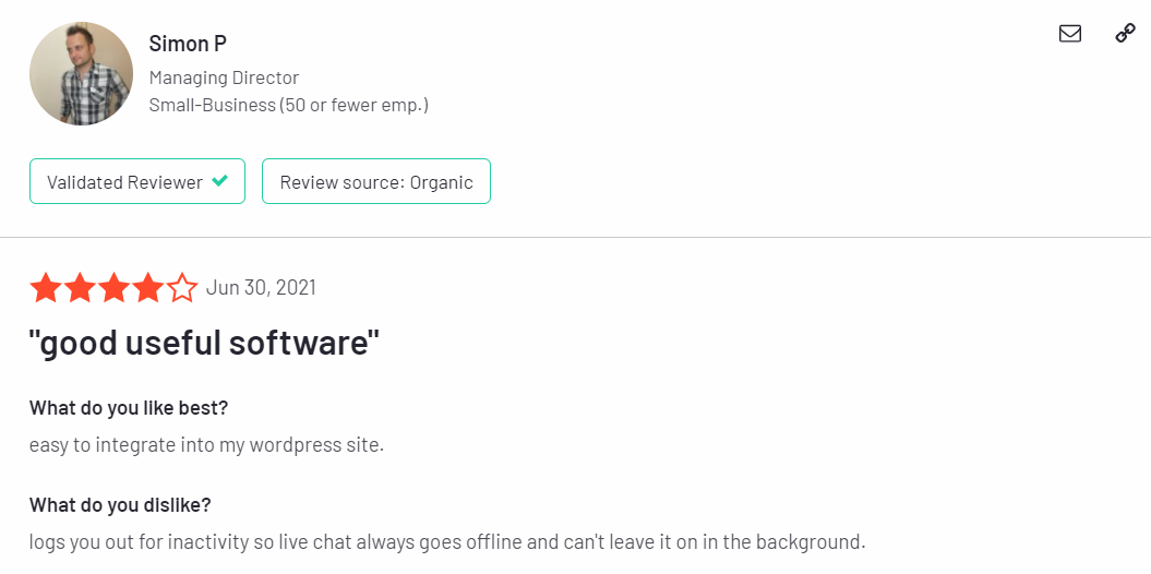 Live Agent feedbacks