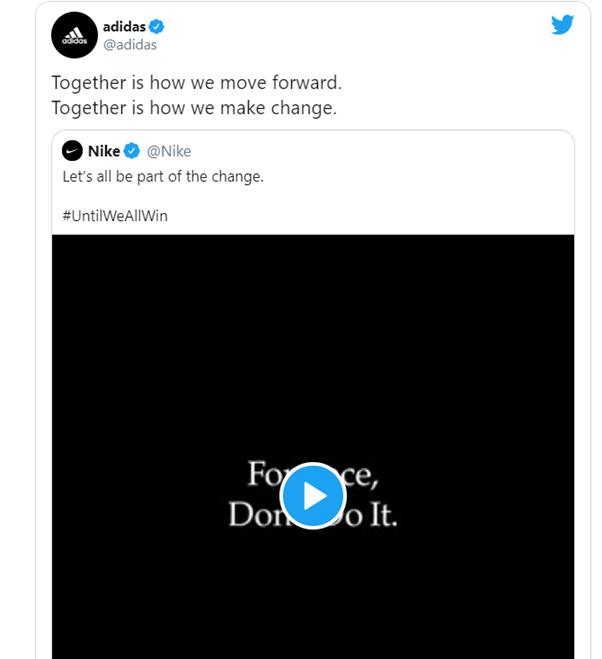 Adidas endorsed Nike's campaign