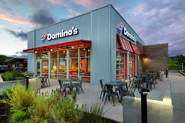 Dominos started optimizing their stores for delivery and takeouts