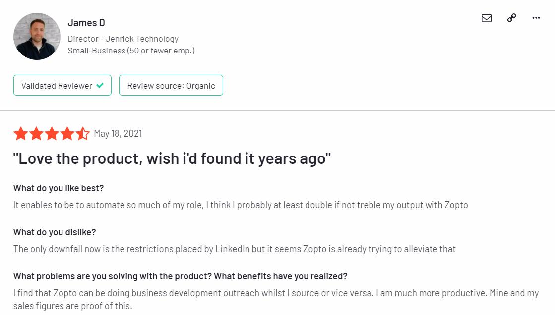 zopto customer review