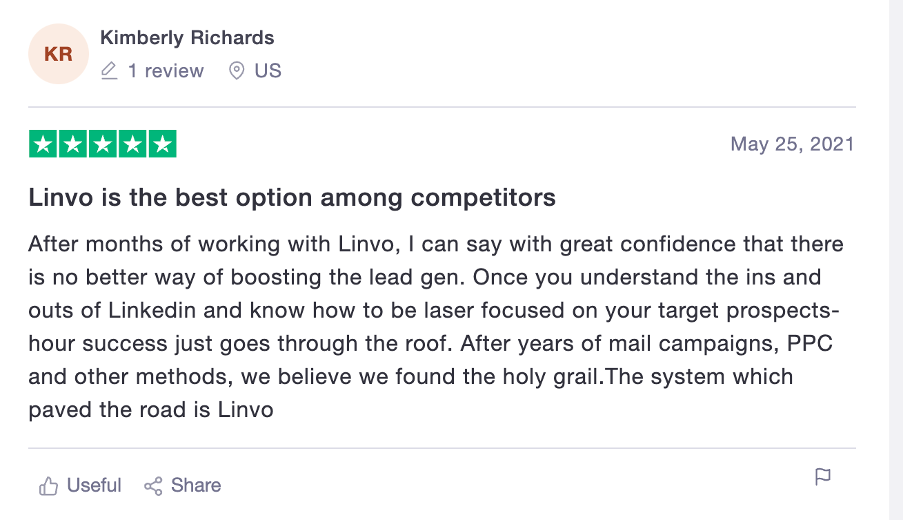 linvo customer review