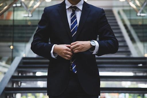 Business man wearing suit