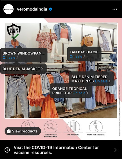 Vero moda shipping ads
